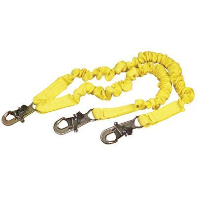 DBI/SALA 1244406 ShockWave2 100% Tie-Off Shock Absorbing Lanyard with Self Locking Snap Hooks at Center and Leg Ends, 6' by DBI-Sala