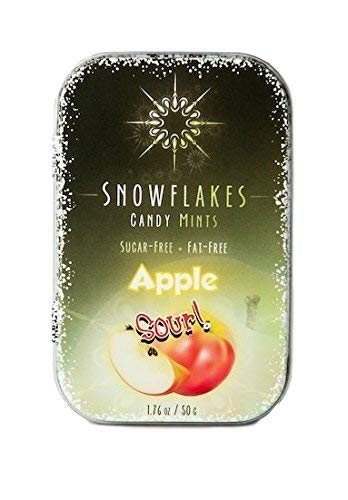 Sour Apple Xylitol Candy Chips - Snowflakes 1LB Bag - Handcrafted with ONLY 2 Ingredients | Diabetic-friendly, Non-GMO, Vegan, GF & Kosher | Purest sugar-free candy in the world!