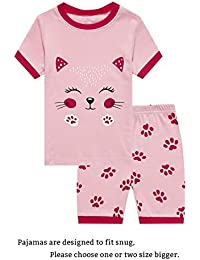 Deer Little Girls' Short Pajamas 100% Cotton Clothes 6M- 14Years