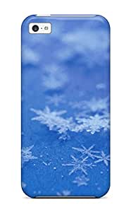 Design High Quality Close Up Of Snowflakes Cover Case With Excellent Style For Iphone 5c