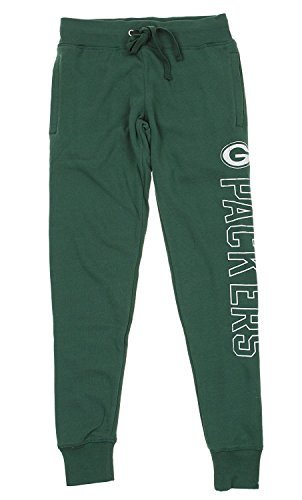 Womens Nfl Pants Lounge (Outerstuff NFL Junior Women's Boyfriend Lounge Jogger, Multiple Teams (Green Bay Packers, Small (3-5)))