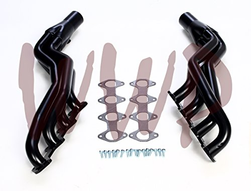 Black Coated Performance Race Racing Long Tube Exhaust Header Manifold System 2004-2010 Ford F150 F-150 5.4L V8 Pickup Truck 2WD & - In Obx Outlets
