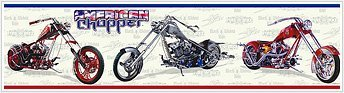 American Chopper Motorcycle Wall Border Accent Roll