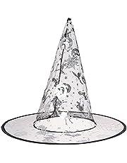 قبعة ساحرة - فضي واسود