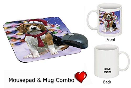 Winter Wonderland Beagle Dog Christmas Mug & Mousepad Combo Gift Set MMCG1161 (Winter Wonderland Mug)