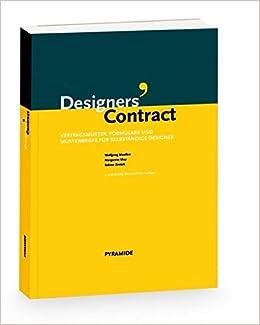 Designers Contract Vertragsmuster Formulare Und Mustertexte Für