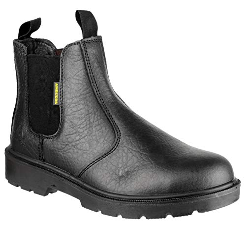 Amblers Steel FS116 Pull-On Dealer Boot/Unisex Boots (15 US) (Black)
