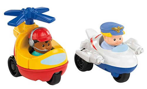 (Fisher-Price Little People Wheelies Jet and Helicopter)