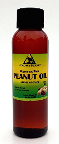 Peanut Oil Unrefined Organic Carrier Cold Pressed Virgin Raw Pure 2 oz