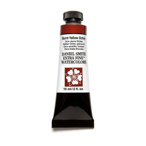 DANIEL SMITH Extra Fine Watercolor 15ml Paint Tube, Burnt Yellow - Tone Colours Skin For Yellow