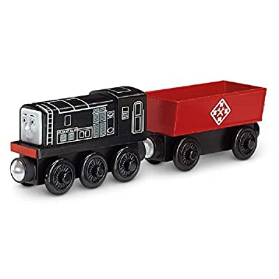 Thomas & Friends Diesel, Cargo Car and Hazard Sign (James Sorts it Out BMF72) Wooden Railway Tank Train Engine - SKU # DGK78: Toys & Games