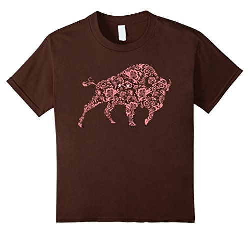 Kids Buffalo Flowers Patterns Shirt   Spiritual Gypsy Tee 12 (Mother Nature Costume Pattern)