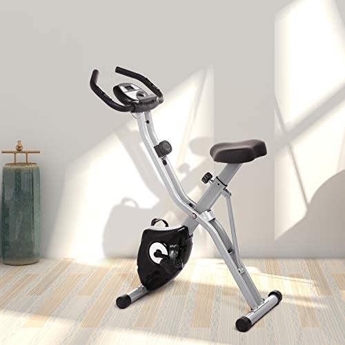 ANCHEER Folding Magnetic Exercise Bike, 10-Level Adjustable Stationary Bike - Tablet Stand & Large and Comfortable Seat by ANCHEER (Image #6)