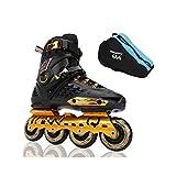 ailj Inline Skates, Skates, Adult Boys and Girls, Roller Skates, Professional Multi-Purpose Skates (3 Colors) (Color : Black, Size : EU 40/US 7.5/UK 6.5/JP 25cm)