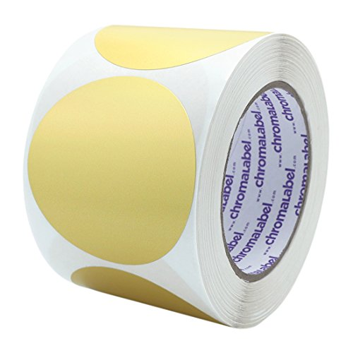 ChromaLabel 3 Inch Color-Code Dot Labels | 500/Roll (Metallic Gold)