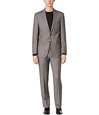 Calvin Klein Mens Wool Slim Fit Two-Button Suit