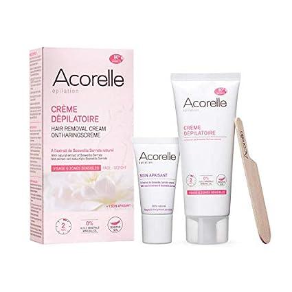 ACORELLE - Crema depilatoria natural para el rostro y las zonas ...