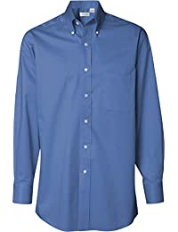 Mens Dress Shirts Regular Fit Twill Solid Button Down Collar