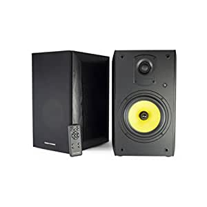 Thonet and Vander KUGEL Bluetooth Speaker System Enhanced Bass, Dual Amplification delivers 700 Watts of Peak Power, Wood Finish, Compatible with Alexa