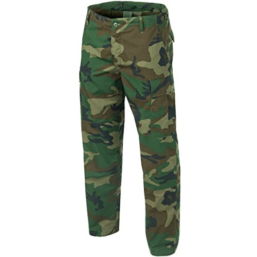Teesar Men's BDU Trousers Ripstop Woodland size (Us Bdu Trousers)