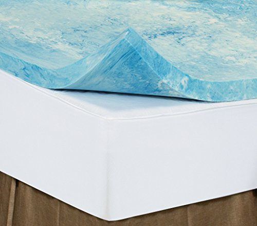 Queen 4 Inch iSoCore Gel Infused Swirl 6.0 Memory Foam Mattress Topper and Classic Comfort Pillow included American Made by iSoCore Foam