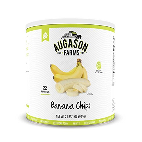 Augason Farms Honey Coated Banana Slices 33 oz. #10 Can 3-pack (no. 10 can)