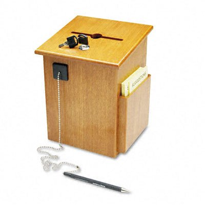 Buddy Products Wood Suggestion Box, 7.25 x 10 x 7.5 Inches, Medium Oak (5622-11)