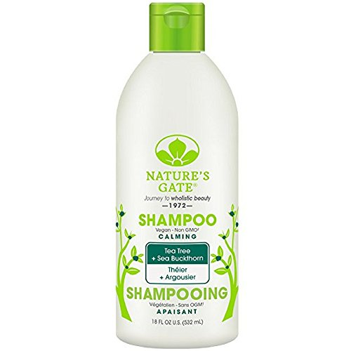 Natures Gate Tea Tree Calming Shampoo, 18 Ounce -- 6 per (Rosemary Purifying Shampoo)