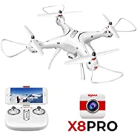 ElementDigital Syma RC Drone FPV X8PRO 720P HD Camera Wifi GPS Position X8 PRO RC Drone Quadcopter RTF Altitude Hold 6Axis Ggro Auto Return Headless Mode Helicopter 2 Drone Batteries (X8 PRO Drone)