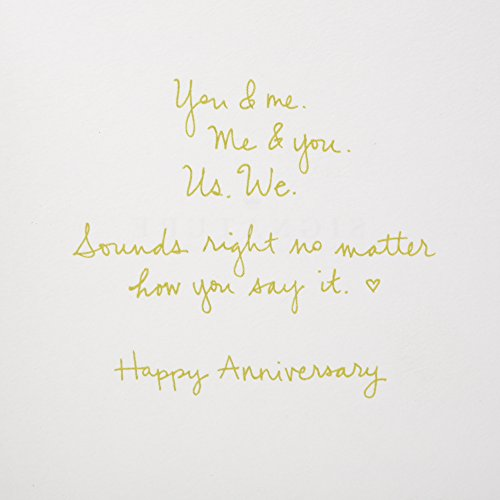 Hallmark Signature Anniversary Card (Wooden You & Me)