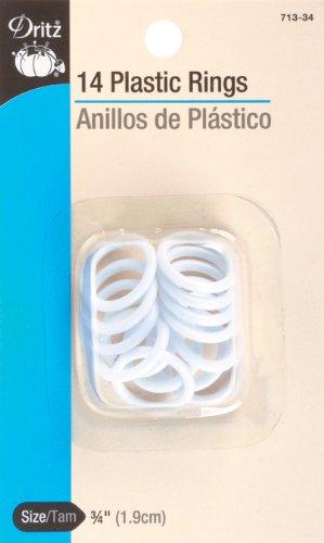 Dritz Plastic Rings 3/4 Inch 14/Pkg (Dritz Plastic Rings)