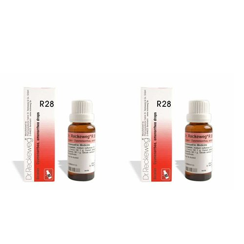 2 Lots X Dr.Reckeweg R 28 22Ml Homeopathic Medicine