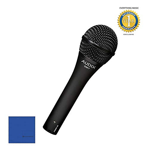 Audix OM7 Handheld Hypercardioid Dynamic Microphone with Microfiber and 1 Year Everything Music Extended Warranty ()