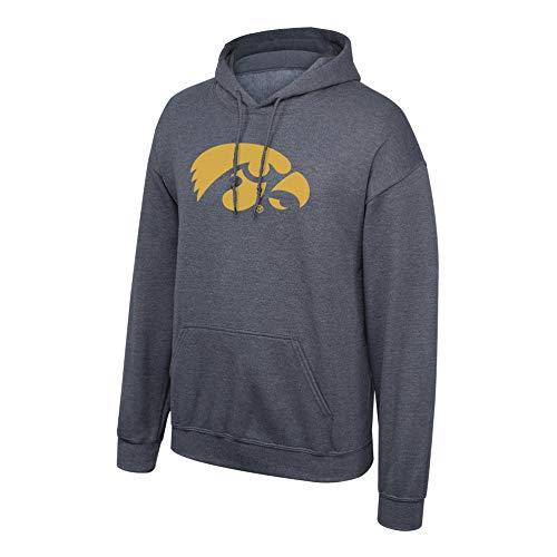 Elite Fan Shop NCAA Men's Iowa Hawkeyes Hoodie Sweatshirt Dark Heather Icon Iowa Hawkeyes Dark Heather Large