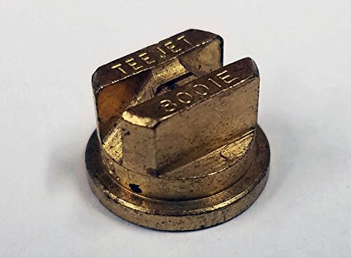 TeeJet TP8001E Spray Tip, 0.071-0.12 GPM, 20-60 psi, Brass - Gold ()