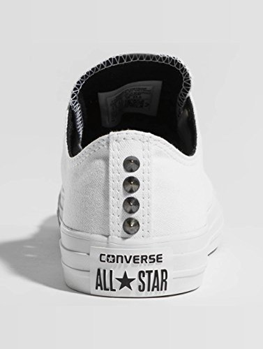 Converse All Taylor White Ox Womens Star Chuck Canvas Black Trainers Cqrv4SC