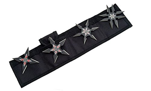 SZCO Supplies BLACK THROWING STAR SET