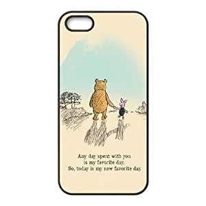 Lycase(TM) Winnie the Pooh quote Custom Cover Case, Winnie the Pooh quote Iphone 5,5S Case