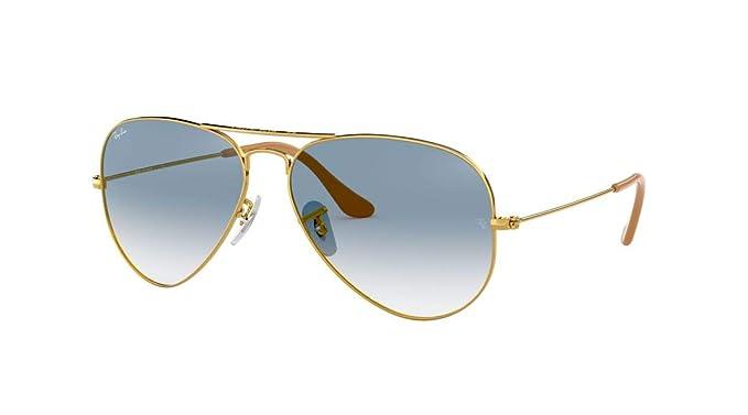 5702c38e479c9 Ray Ban RB3025 Gafas de sol metálicas Aviator.  Amazon.es  Ropa y accesorios