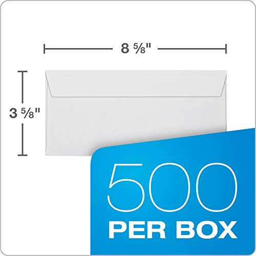 Quality Park, QUA67539, Reveal-n-Seal Double Window Envelopes, 500 / Box, White