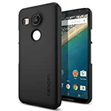 Nexus 5x Case, Spigen Thin Fit - Premium Matte Finish Coating Thin Case for Google Nexus 5x (2015) - Black