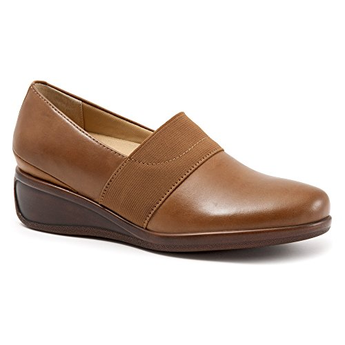 Trotters Women's Marley Cognac Tumbled Leather Wedge 11 M (B) (Leather Tumbled)