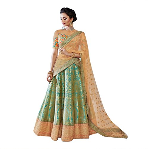 Bollywood Bridal Ethnic Lehenga Choli Dupatta Party Wedding Wear Women Muslim Ceremony Diwali Festival 519 by ETHNIC EMPORIUM