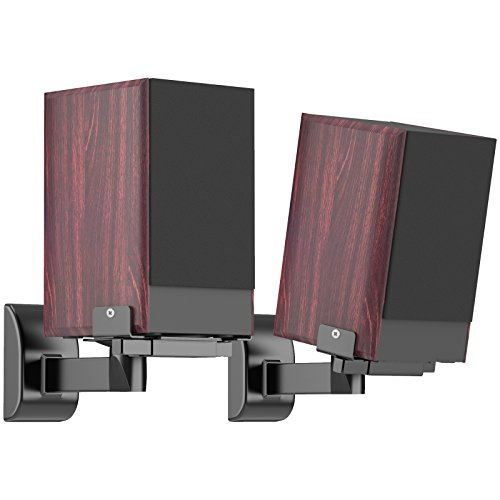 1home Side Clamping Bookshelf Speaker Wall Mount Bracket for Surround Sound...