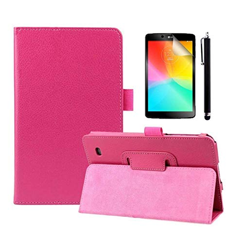 LG G pad 7.0 Case,PU Leather and Hard PC Back Smart Cover Flip Folio Case for LG G Pad 7.0 V400 / V410 7-Inch Android Tablet Cases and Covers with - Tablet Lg Protector Screen V410