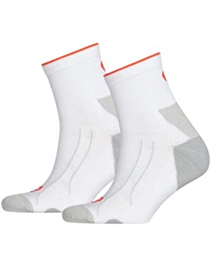 Men's and Women's 1 Pair PowerCELL Performance and Mid-Weight Crew Training Socks