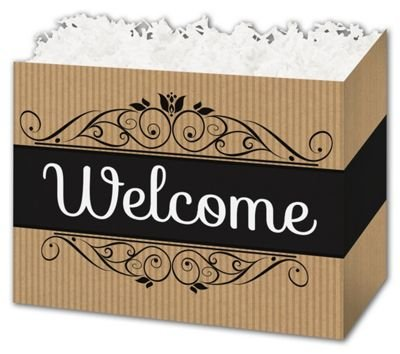 (Welcome Gift Basket Boxes, 6 3/4 x 4 x 5