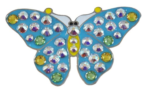 - Navika Butterfly Swarovski Crystal Ball Marker with Hat Clip (Blue)