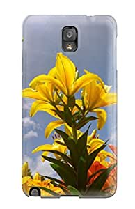 Hot Lily Flowers First Grade Tpu Phone Case For Galaxy Note 3 Case Cover