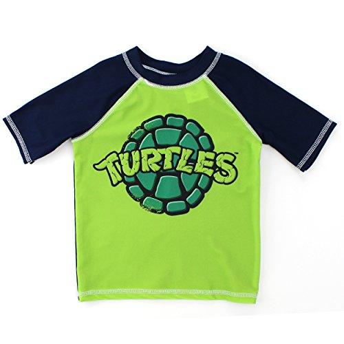 [TMNT Ninja Turtles Boys Swimwear (3T, Green Rash Guard)] (Ninja Turtle Suits)